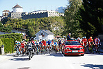 The start of the Men U23 Road Race of the 2018 UCI Road World Championships running 179.5km from Wattens to Innsbruck, Innsbruck-Tirol, Austria 2018. 28th September 2018.<br /> Picture: Innsbruck-Tirol 2018 | Cyclefile<br /> <br /> <br /> All photos usage must carry mandatory copyright credit (© Cyclefile | Innsbruck-Tirol 2018)
