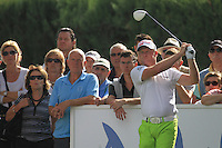 Jamie Donaldson (WAL) during the 1st day at the  Andalucía Masters at Club de Golf Valderrama, Sotogrande, Spain. .Picture Fran Caffrey www.golffile.ie
