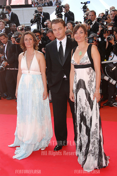 "Leonardo DiCaprio & Leila Connors Petersen & Nadia Connors at screening for ""No Country for Old Men"" at the 60th Annual International Film Festival de Cannes. .May 19, 2007  Cannes, France..© 2007 Paul Smith / Featureflash"
