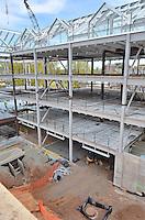 Camera View: Southeast. North Elevation, center. Central Connecticut State University. New Academic Building.  Project No: BI-RC-324. Architect: Burt Hill Kosar Rittelmann Associates. Contractor: Gilbane Building Company, Glastonbury, CT.