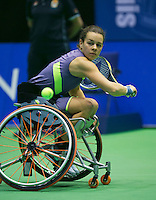 22-12-13,Netherlands, Rotterdam,  Topsportcentrum, Tennis Masters, Wheelchair final,   Marjolein Buis(NED)<br /> Photo: Henk Koster