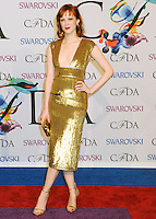 NEW YORK CITY, NY, USA - JUNE 02: Karen Elson arrives at the 2014 CFDA Fashion Awards held at Alice Tully Hall, Lincoln Center on June 2, 2014 in New York City, New York, United States. (Photo by Celebrity Monitor)