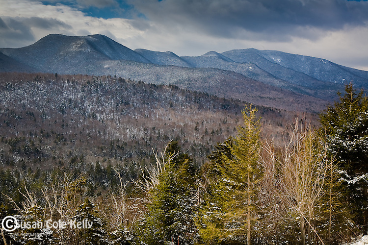 White Mountains in winter, White Mountain National Forest, NH, USA