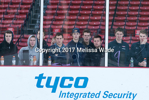 UConn watched a bit of UNH's practice. - The University of New Hampshire Wildcats practiced at Fenway on Friday, January 13, 2017, in Boston, Massachusetts.