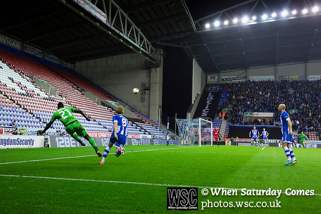 Wigan Athletic 1 Rubin Kazan 1, 24/10/2013. DW Stadium, Europa League Group D. Wigan Athletic embark on their first European campaign having won the FA Cup the previous season. The DW Stadium is temporarily known as The Wigan Athletic Stadium for Europa League fixtures. Wakaso Mubarak (Rubin Kazan) swings in a dangerous cross.  Photo by Paul Thompson.