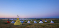 Tipis at Dawn - Montana - Blackfeet Rez - Tipi Village
