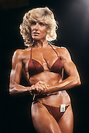 Atlantic City, April 24 1981. Georgia Fudge at  the World Body Building Championships.