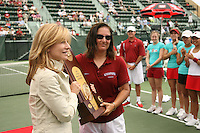 23 May 2006: Head coach Lele Forood during Stanford's 4-1 win over the Miami Hurricanes in the 2006 NCAA Division 1 Women's Tennis Team Championships at the Taube Family Tennis Stadium in Stanford, CA.