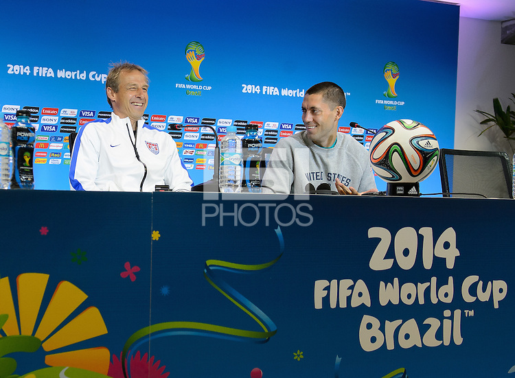 Salvador, Brazil - Monday, June 30, 2014: The USMNT holds a press conference in preparation for it's match with Belgium in the 2014 World Cup.