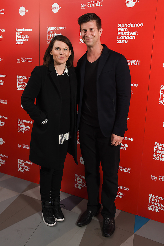 """director, Clea Duvall and producer, Paul Bernon<br /> arrives for the screening of """"The Intervention"""" as part of the Sundance Film Festival: London 2016 at the Picturehouse Central, London.<br /> <br /> <br /> ©Ash Knotek  D3127  03/06/2016"""