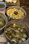 Artichokes, potatoes, market, Palermo, Sicily, Italy