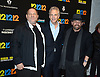 "Harvey Weinstein, John Sykes and James Dolan attend the New York Premiere of ""12-12-12"" on November 8, 2013 at the Ziegfeld Theatrein New York City."