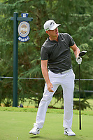 Alex Noren (SWE) watches his tee shot on 11 during Sunday's final round of the PGA Championship at the Quail Hollow Club in Charlotte, North Carolina. 8/13/2017.<br /> Picture: Golffile | Ken Murray<br /> <br /> <br /> All photo usage must carry mandatory copyright credit (&copy; Golffile | Ken Murray)