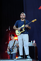 LONDON, ENGLAND - JUNE 29: Matt Mason of 'DMA'S' performing at Finsbury Park on June 29, 2018 in London, England.<br /> CAP/MAR<br /> &copy;MAR/Capital Pictures