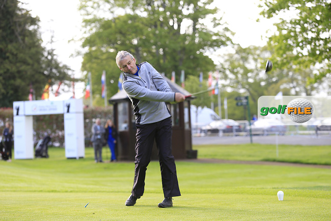 Julien Quesne (FRA) team in action during Wednesday's Pro-Am of the 2016 Dubai Duty Free Irish Open hosted by Rory Foundation held at the K Club, Straffan, Co.Kildare, Ireland. 18th May 2016.<br /> Picture: Eoin Clarke | Golffile<br /> <br /> <br /> All photos usage must carry mandatory copyright credit (&copy; Golffile | Eoin Clarke)