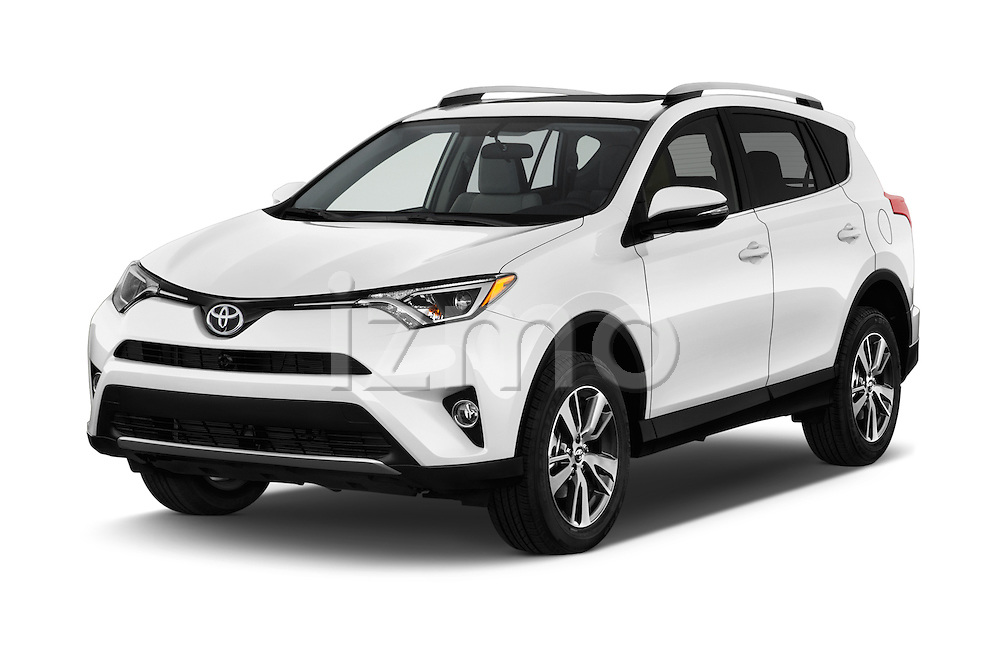 2016 Toyota RAV4 XLE 5 Door SUV Angular Front stock photos of front three quarter view
