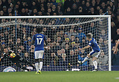 5th November 2017, Goodison Park, Liverpool, England; EPL Premier League Football, Everton versus Watford; Leighton Baines of Everton scores his side's third goal in the first minute of added time at the end of the 90 minutes