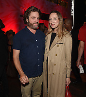 """LOS ANGELES - SEPTEMBER 4: Zach Galifianakis and Anna Konkle attend the series finale event for FX's """"Baskets"""" at Neuehouse Hollywood on September 4, 2019 in Los Angeles, California. (Photo by Frank Micelotta/FX/PictureGroup)"""