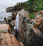 The Seacoast In The Rain At Acadia National Park
