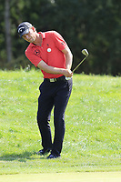 Marcel Siem (GER) chips onto the 14th green during Saturday's Round 3 of the Porsche European Open 2018 held at Green Eagle Golf Courses, Hamburg Germany. 28th July 2018.<br /> Picture: Eoin Clarke | Golffile<br /> <br /> <br /> All photos usage must carry mandatory copyright credit (&copy; Golffile | Eoin Clarke)