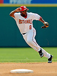 11 March 2006: Marlon Anderson, infielder for the Washington Nationals, sets for a drive during a Spring Training game against the Los Angeles Dodgers. The Nationals defeated the Dodgers 2-1 in 10 innings at Space Coast Stadium, in Viera, Florida...Mandatory Photo Credit: Ed Wolfstein.