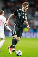 Argentina's Lucas Biglia during international friendly match. March 27,2018. *** Local Caption *** © pixathlon<br /> Contact: +49-40-22 63 02 60 , info@pixathlon.de