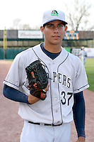 April 11 2010: Edgar Ibarra of the Beloit Snappers at Elfstrom Stadium in Geneva, IL. The Snappers are the Low A affiliate of the Minnesota Twins. Photo by: Chris Proctor/Four Seam Images