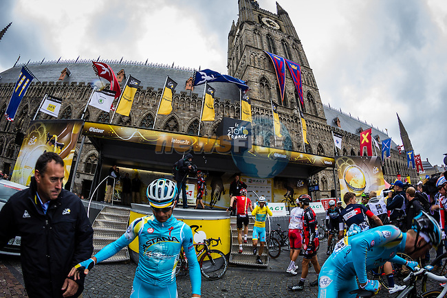 Scarponi, Tour de France, Stage 5: Ypres > Arenberg Porte du Hainaut, UCI WorldTour, 2.UWT, Wallers, France, 9th July 2014, Photo by Thomas van Bracht / Peloton Photos