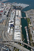 aerial photograph China Basin South Beach Caltrain Station San Francisco, California