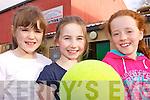 SOCCER GIRLS: Taking part in the Futsal tournament in Listowel Sports Centre on Friday were, l-r: Rachel O'Shea, Regan O'Connor, Maggie Beth.