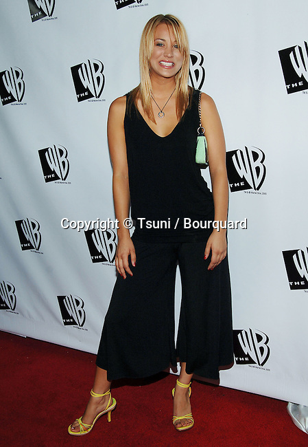 Kaley Cuoco arriving at the WB 2005 All Star Celebration Party at the La Cabana in Los Angeles. July 22, 2005.