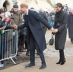18.01.2018; London, England: MEGHAN MARKLE AND PRINCE HARRY VISIT CARDIFF<br /> to observe the rich culture and heritage of Wales, and to learn more about some of the organisations working in communities across the country. <br />This is Meghan and Harry&rsquo;s first official visit to Wales<br />They are to be married on 19th May 2018 at Windsor Castle.<br />Mandatory Photo Credit: &copy;Francis Dias/NEWSPIX INTERNATIONAL<br /><br />IMMEDIATE CONFIRMATION OF USAGE REQUIRED:<br />Newspix International, 31 Chinnery Hill, Bishop's Stortford, ENGLAND CM23 3PS<br />Tel:+441279 324672  ; Fax: +441279656877<br />Mobile:  07775681153<br />e-mail: info@newspixinternational.co.uk<br />Usage Implies Acceptance of Our Terms &amp; Conditions<br />Please refer to usage terms. All Fees Payable To Newspix International