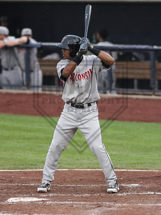 DAVENPORT - May 2015: Wisconsin Timber Rattlers second baseman Gregory Munoz (7) during a Midwest League game against the Quad Cities River Bandits on May 8th, 2015 at Modern Woodmen Park in Davenport, Iowa.  Quad Cities defeated Wisconsin 11-6.  (Brad Krause/Krause Sports Photography)