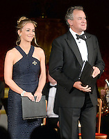 09 March 2016 - London, England - Miranda Raison and Hugh Bonneville perform as the Prince of Wales hosts a gala concert marking the 10th anniversary of the Children and the Arts charity at St James's Palace, London. Photo Credit: ALPR/AdMedia