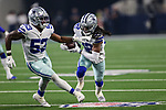 Dallas Cowboys cornerback Donovan Olumba (32) in action during the pre-season game between the Tampa Bay Buccaneers and the Dallas Cowboys at the AT & T Stadium in Arlington, Texas.
