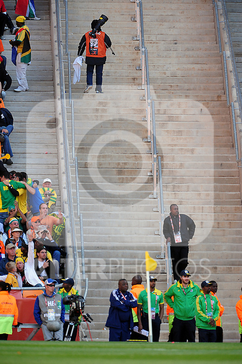 The long walk back during the 2010 World Cup Soccer match between Denmark and Nederland played at Soccer City Stadium in Johannesburg South Africa on 14 June 2010.