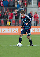 21 April 2012: Chicago Fire defender Arne Friedrich #23 in action during a game between the Chicago Fire and Toronto FC at BMO Field in Toronto..The Chicago Fire won 3-2....