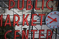 Sign at the Pike Place Market - Seattle - Washington State