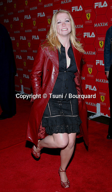 Melissa Joan Hart arriving at the Seduction Of Speed an evening with the magazine Maxim at the Lounge @ Astra in Los Angeles. March 14, 2002.