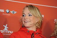 SCHAATSEN: AMSTELVEEN: 15-10-2013, De Jonge Dikkert, Perspresentatie Team LIGA, Thijsje Oenema, ©foto Martin de Jong