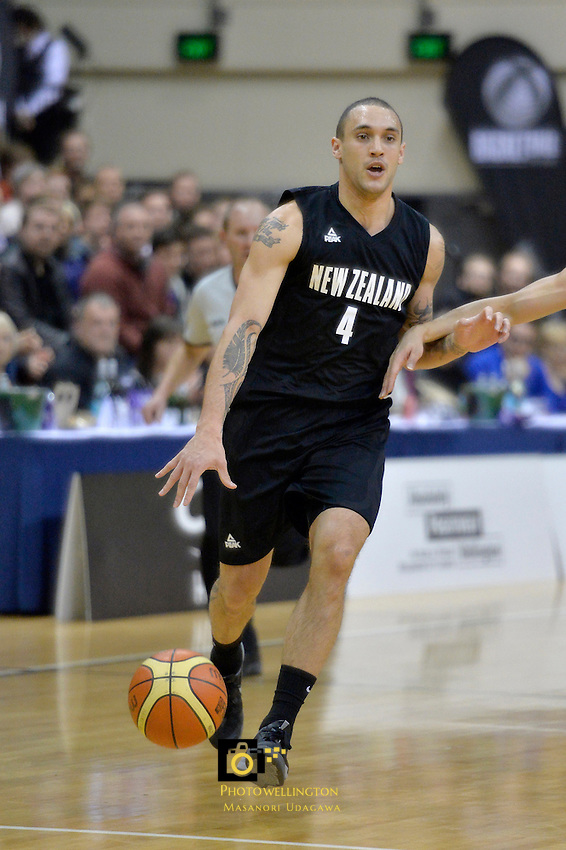 Lindsay Tait in action during the International Basketball - Tall Blacks v South Korea at TSB Bank Arena, Wellington, New Zealand on Tuesday 15 July 2014. <br /> Photo by Masanori Udagawa. <br /> www.photowellington.photoshelter.com.