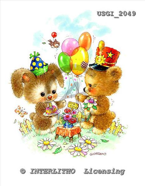GIORDANO, CUTE ANIMALS, LUSTIGE TIERE, ANIMALITOS DIVERTIDOS, Teddies, paintings+++++,USGI2049,#AC# teddy bears