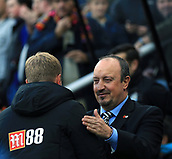 4th November 2017, St James Park, Newcastle upon Tyne, England; EPL Premier League football, Newcastle United Bournemouth; Rafa Benítez Manager of Newcastle United and Eddie Howe Manager of AFC Bournemouth shake hands