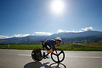 Action from the Men's Junior Individual Time Trial of the 2018 UCI Road World Championships running 27.8km from Wattens to Innsbruck, Innsbruck-Tirol, Austria 2018. 25th September 2018.<br /> Picture: Innsbruck-Tirol 2018 | Cyclefile<br /> <br /> <br /> All photos usage must carry mandatory copyright credit (&copy; Cyclefile | Innsbruck-Tirol 2018)