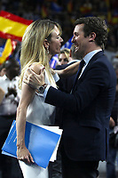 The closing of the campaign of the PP (Partido Popular) party, on Sunday the 28th are the general elections, at WiZink Center in Madrid on April 26, 2019.<br /> Cayetana Alvarez de Toledo and President of PP, Pablo Casado