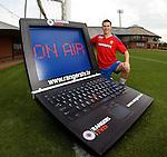 Matt McKay promoting the Rangers TV online stuf