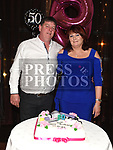 Margo Brady celebrating her 50th birthday in The Thatch with husband Pat. Photo:Colin Bell/pressphotos.ie