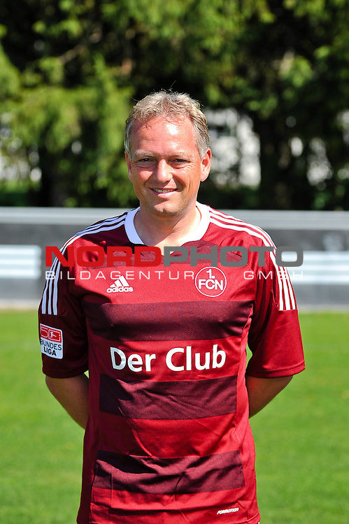 23.07.2012, Sportpark Valznerweiher, Nuernberg, GER, 1.FBL, Mannschaftsfoto, 1. FC Nuernberg, im Bild<br /> Co-Trainer Dirk Bremser (1. FC Nuernberg)<br /> <br /> Foto &copy; nph / Merz *** Local Caption ***