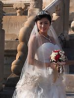Braut im Kulturpalast der Werkt&auml;tigen, Peking, China, Asien<br /> Bride in Cultural Palace of the working peopleim, Beijing, China, Asia