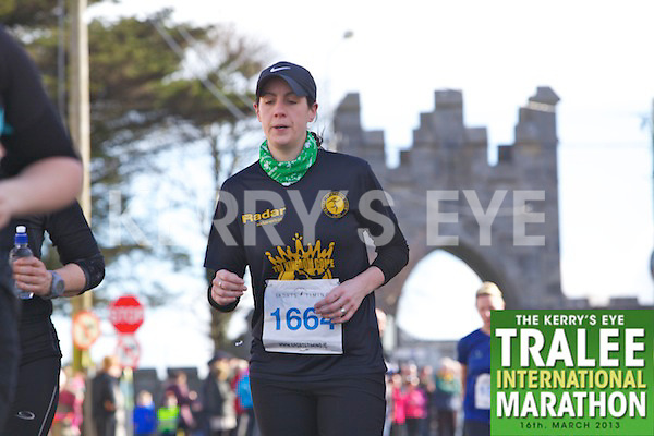 1664 Alison Reidy  who took part in the Kerry's Eye, Tralee International Marathon on Saturday March 16th 2013.